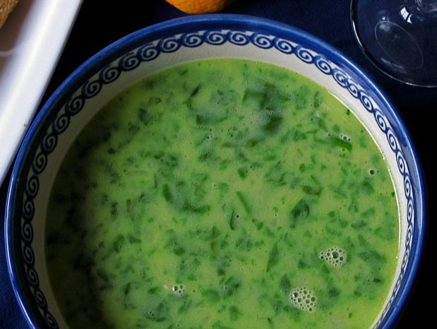 Krémová Thaiská špenátová polievka - ilustračné foto