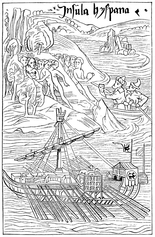 zdroj: http://upload.wikimedia.org/wikipedia/commons/0/06/Kolumbus-landet-auf-guanahani_1-860x1315.jpg