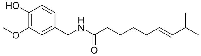 chemický vzorec kapsaicinu